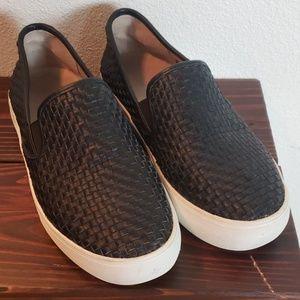 J/SLIDES black leather size 8